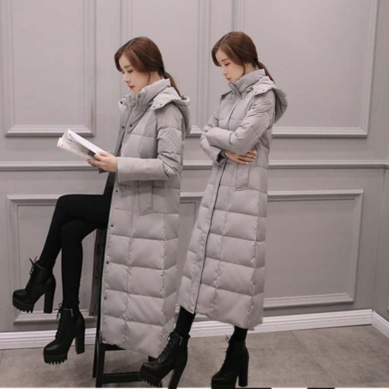 Canard Down army Veste Long De Vêtements Green Noir Blanc Qualité Chaud Femmes Femelle Épaississement D'hiver gris Coton Clothingparkas Étanche Mode Haute HwXqtzB