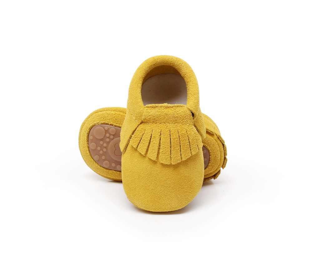 חדש חם למכור אמיתי זמש עור תינוק מוקסינים נעלי פרינג 'מוצק קשה גומי בלעדית ראשון ווקר פעוט תינוק מגפיים