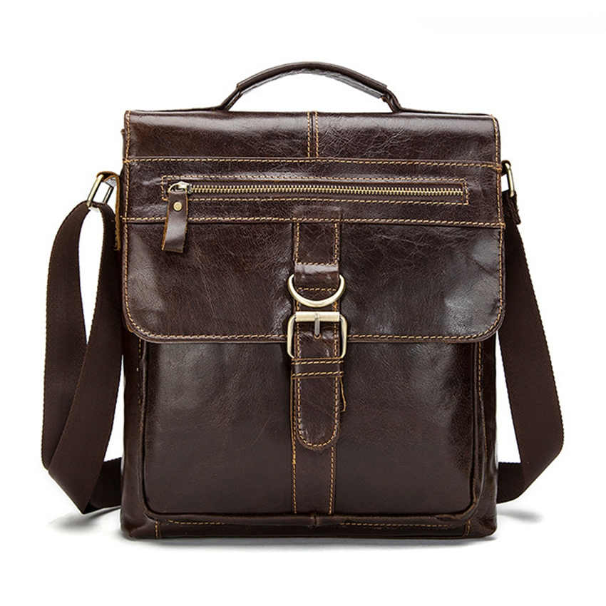 Top Quality Genuine Leather Messenger Bag Men Shoulder Bag Male Casual Tote men s Crossbody bags