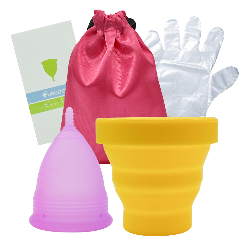 Furuize Menstrual Sterilizing Cup copa menstrual with Cloth bag with Menstrual cup Feminine hygiene Sterilize Cup clean Lady cup