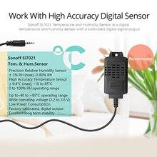 SONOFF TH10/TH16 SI7021 Humidity Sensor Switch Wireless Probe Temperature Monitor Monitoring Wifi Smart Home Remote Controller