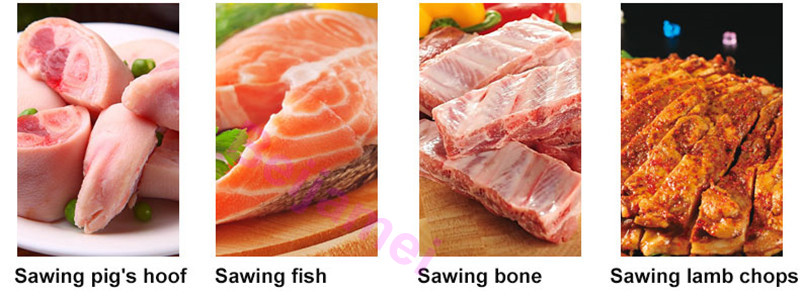 sawing meat