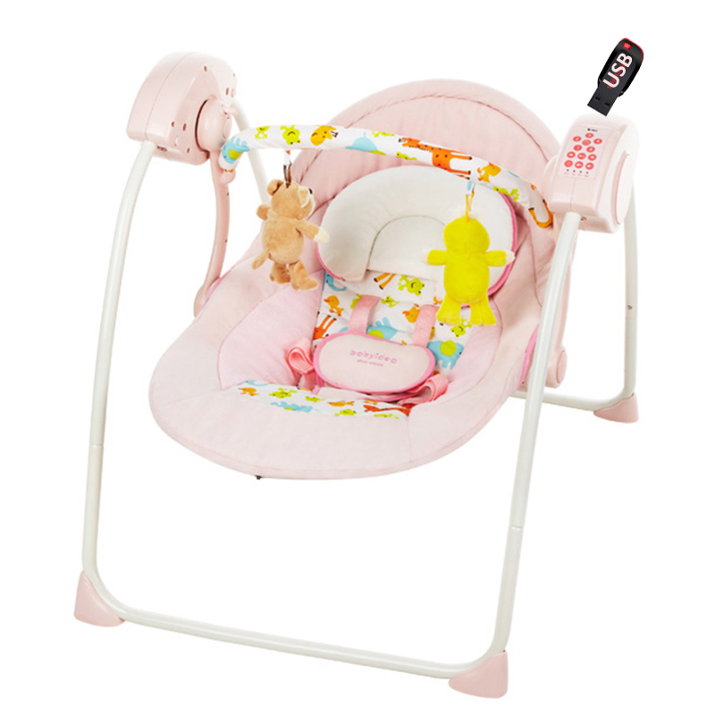 Baby Rocker Chair Childrens Table And Chairs 2 Electric Rocking Usb Music Swing Cradle Bouncer