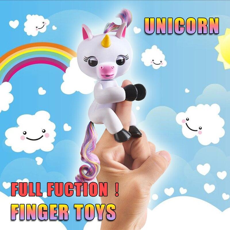 New Finger unicorn Interactive Baby Unicorn Mini Interactive Finger sloth Smart Finger monkey Smart Unicorn Toys Christmas Gift
