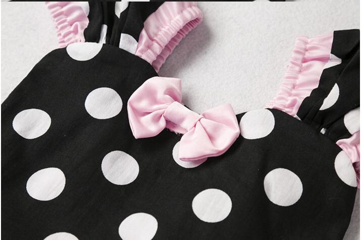 7cabe38a46e02 wholesale toddler baby girls glitter polka dots puff sleeve tutu ...
