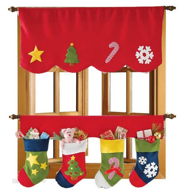 Двери Окна Драпировка Панели Рождество Занавес Декоративные Домой