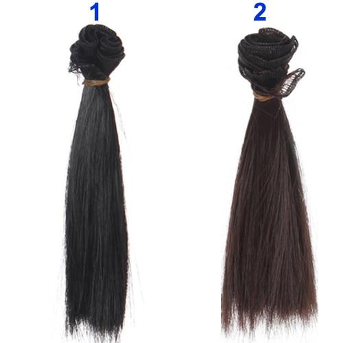 1pcs-hair-refires-bjd-hair-15cm100CM-black-gold-brown-khaki-white-grey-color-short-straight-wig-hair-for-13-14-BJD-diy-2