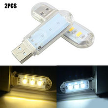 1pc Mini USB LED Book Light 3LEDs DC 5V For PC Laptops Computer Notebook Power Bank Camping Lamp Reading Bulb(China)