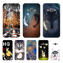 J16 SM-J120F/DS 120 F J 1 2016 Duos Case For Samsung Galaxy J1 2016 SM-J120F 3D Printing Soft Silicone Cover SM J120F DS J12016 смартфон samsung galaxy j1 2016 sm j120f ds white