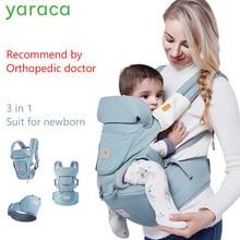 Baby Hipseat az újszülöttek számára 3 az 1-ben Ergonómiai Baby Carrier 0-36 hónapos teherhordó 36kg Wrap Sling gyermekeknek