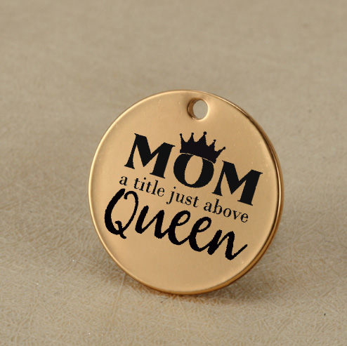 Mom Mum Mother Queen Stainless Steel Charm Mom A Litle
