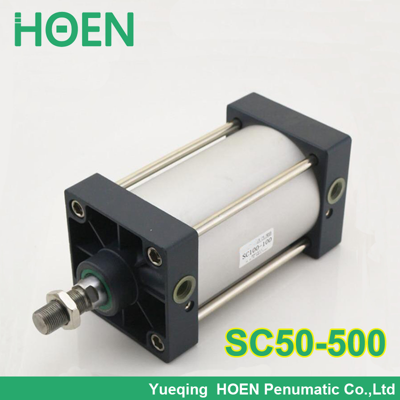 Airtac Type 50mm Bore 500mm Stroke 1/4 BSP Standard Pneumatic Air Cylinder SC 50x500 50-500 50*500 su63 100 s airtac air cylinder pneumatic component air tools su series