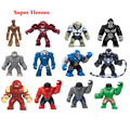 12 pcs Compatível Com Legoe Super Heróis Mini figuras Modelo Hulkbuster Rinoceronte Mark38 Venom Hulk Blocos de Construção para Crianças