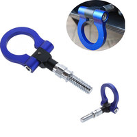 Car Style Blue Racing Tow Hook For BMW VW Frod Toyota European Car Auto Trailer Ring