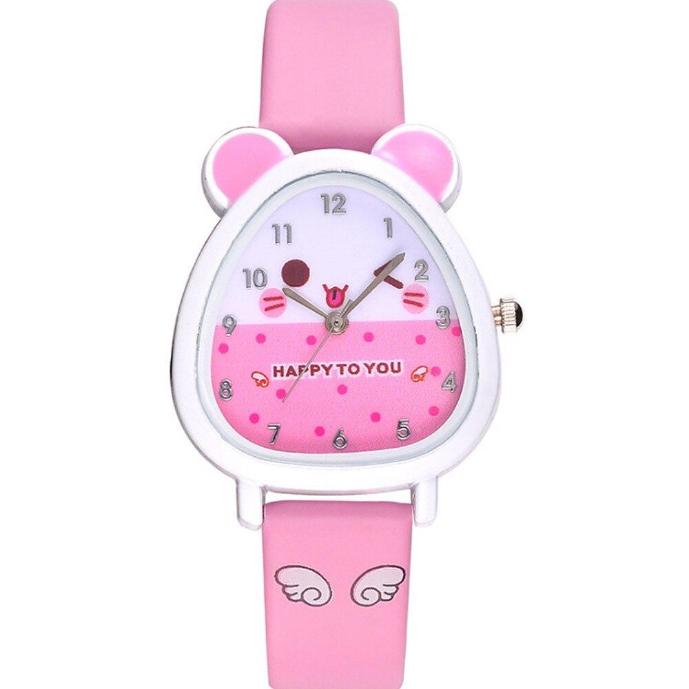New Lovely Animal Design Boy Girl Children Quartz Watch Kid's Birthday Gift Kol Saati Horloge Kinderen Clock Children Kol Saati
