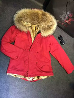 Top Quality Winter Jacket Mr Mrs Furs Parka Coats Natural Faux Fur Lined Large Real Raccoon