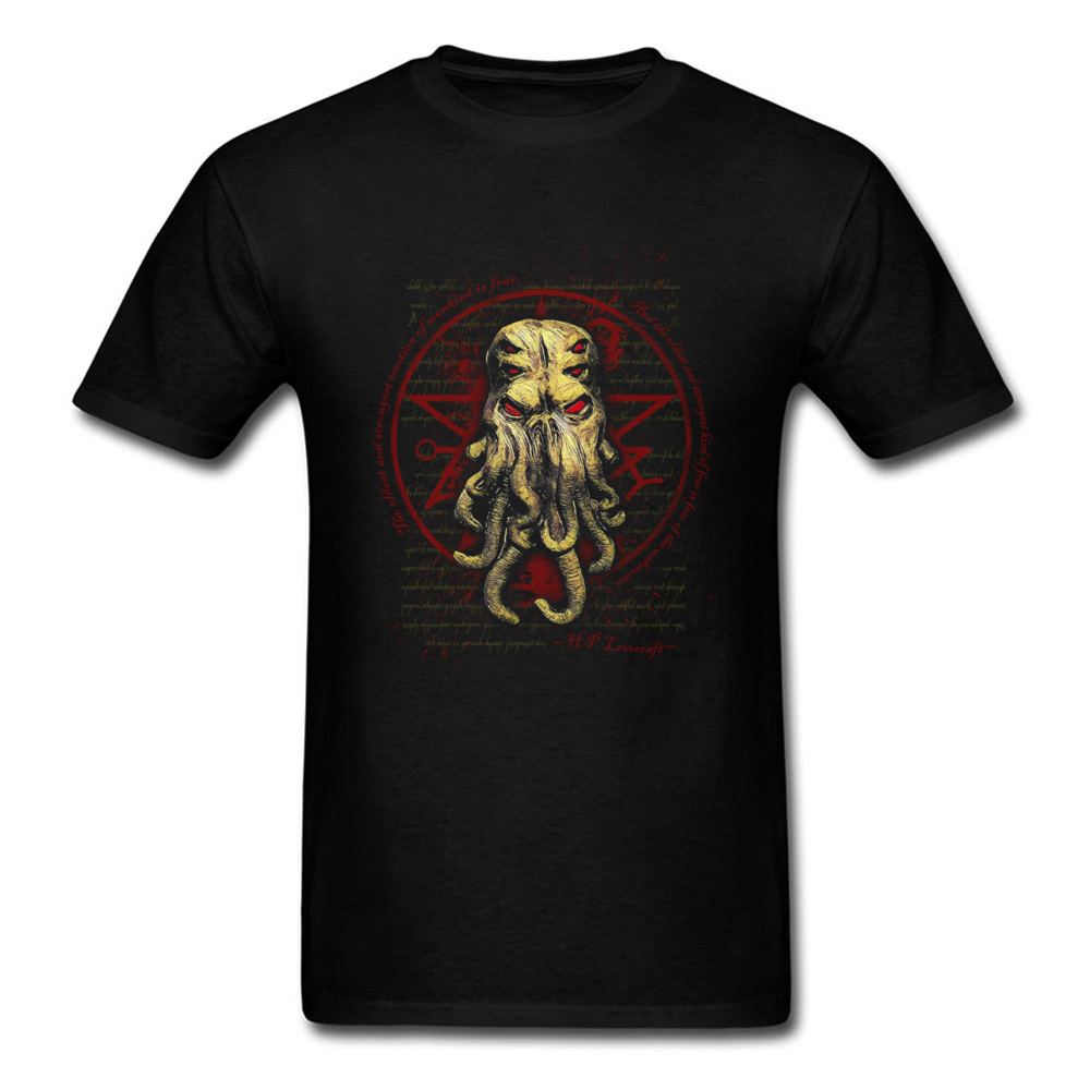 Video Game Tshirts Cthulhu Monster Mens Horror Film Graphic Gray T-Shirts 2018 Funny Design Brand Tops & Tees Larger Size
