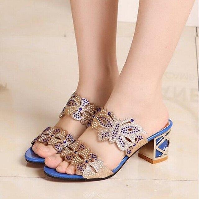 talons hauts-Pur Sandals Couleur Flats Pantoufl... MFCtT