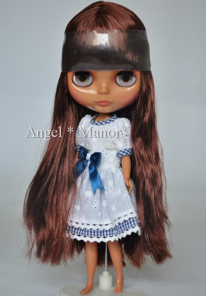 Free shipping Nude Blyth Doll, bronze hair,Dark skin, big eye doll,Fashion doll Suitable For DIY Change BJD , For Girl's Gift nude blyth doll with gold hair fashion doll suitable for diy change bjd for girl s gift free shipping pjj012