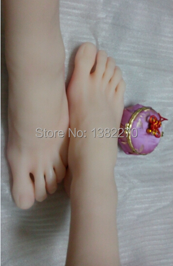 Size 44 Men handsome foot sexy toys Brown real silicone font b sex b font font