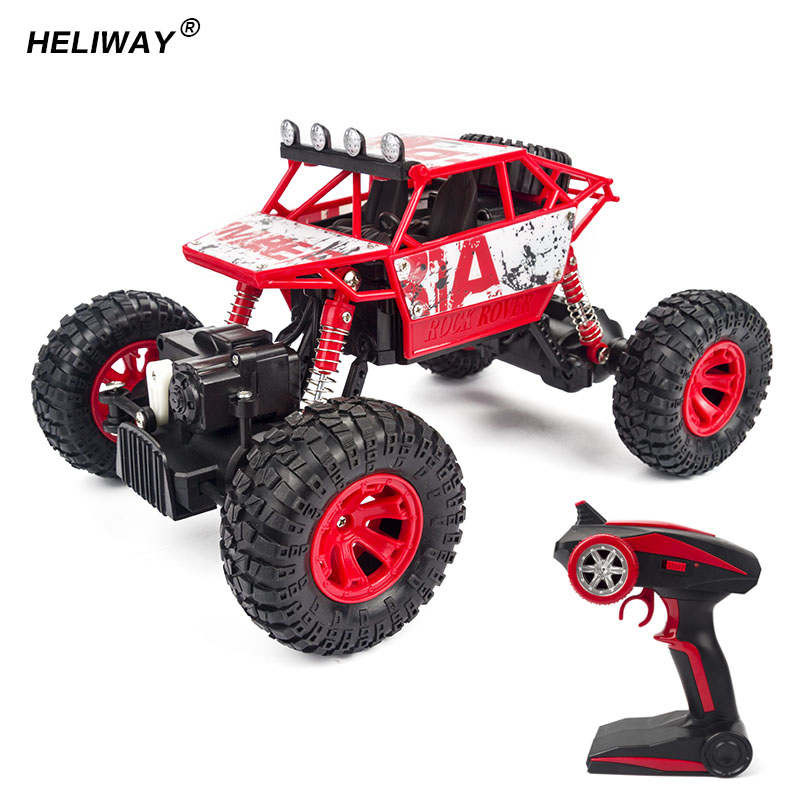 heliway rc car 118 scale 4 wheel drive extreme crawler suv 24ghz remote control mini off road car high speed rock rover toys