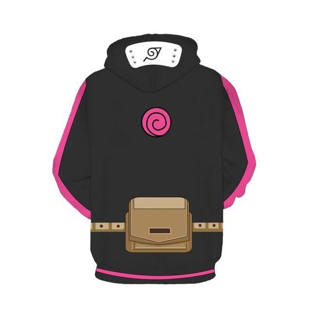 Naruto 3D Printed Zip Hoodie Sweatshirt Pants