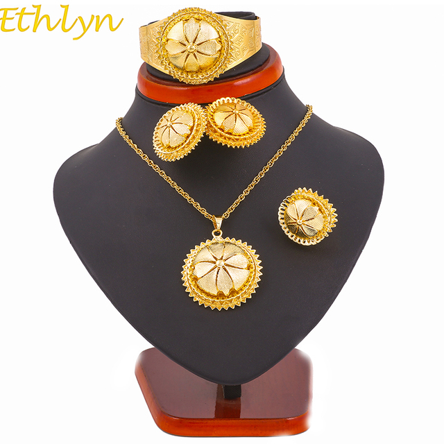 Ethlyn Traditional Festival Ethiopian Wedding Jewelry Sets Necklace