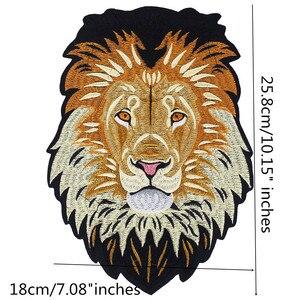 Image 4 - 10 piezas de insignias de reparación de parches bordados de aplique en la parte posterior de hierro bordado de León para ropa, accesorios de costura de pegatinas TH1256