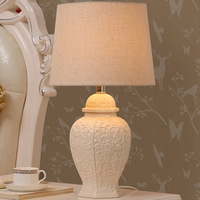 TUDA 2017 Modern Simple European Style Ceramic Table Lamp For Bedroom Bedside Lamp Chinese Table Lamp