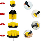 4PCS/Set Full Bristle Electric Drill High-strength Plastic Scrub Cleaser Bathroom Surfaces Tub Shower Tile Grout Brushes Tools