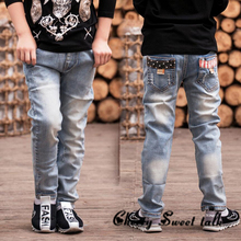 Spring youngsters pants boys child denims kids denims for boys informal denim pants 2-13 y, denims boy free transport 86157