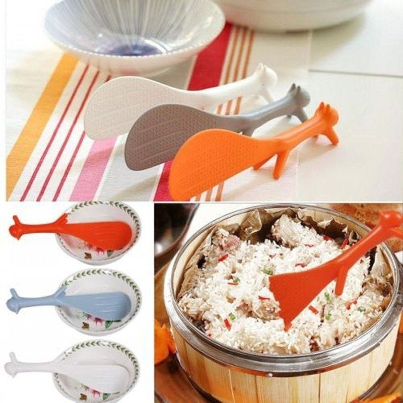 Pala de arroz de silicona antiadherente Ecol/ógico resistente al calor Paddle de arroz Color aleatorio