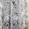 Готовые Пользовательские Цветок Цветочные Voile Sheer Тюль Шторы для Гостиной Спальня Кухня Дверь Окно Home Decor, 1 Панель/ШТ