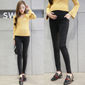 2017 Весна ковбой стрейч жареные бамбук разделе живота носить Корейской версии грунтовки брюки ноги