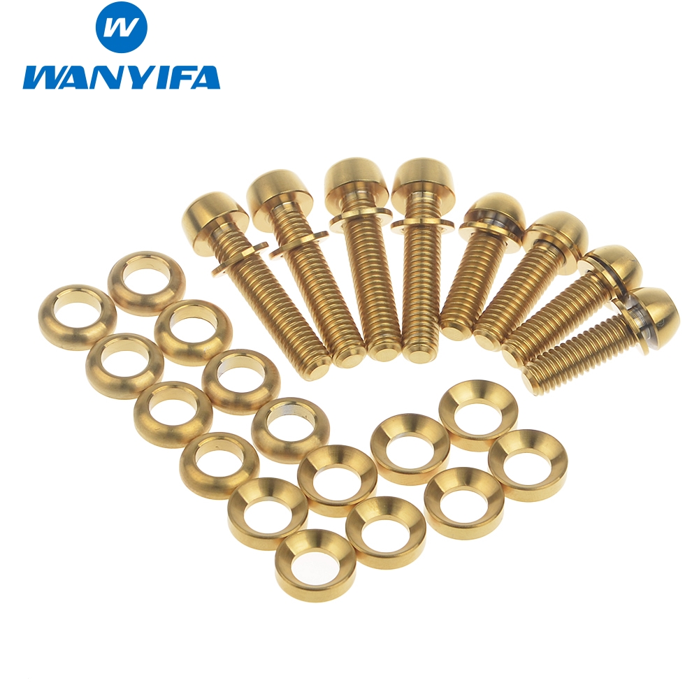 Wanyifa vélo vélo titane Ti boulons Kit pour Elixir, Code, juteux vis de frein à disque, M6 x 20mm, M6 x 29mm rondelles pour étrier