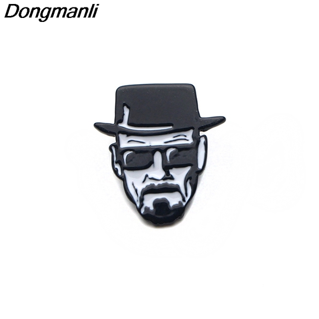 09053512ae2 P3276 Dongmanli Breaking Bad Walter White Cool Enamel Pins and Brooches for  Women Men Lapel Pin Backpack Bags Badge Gifts