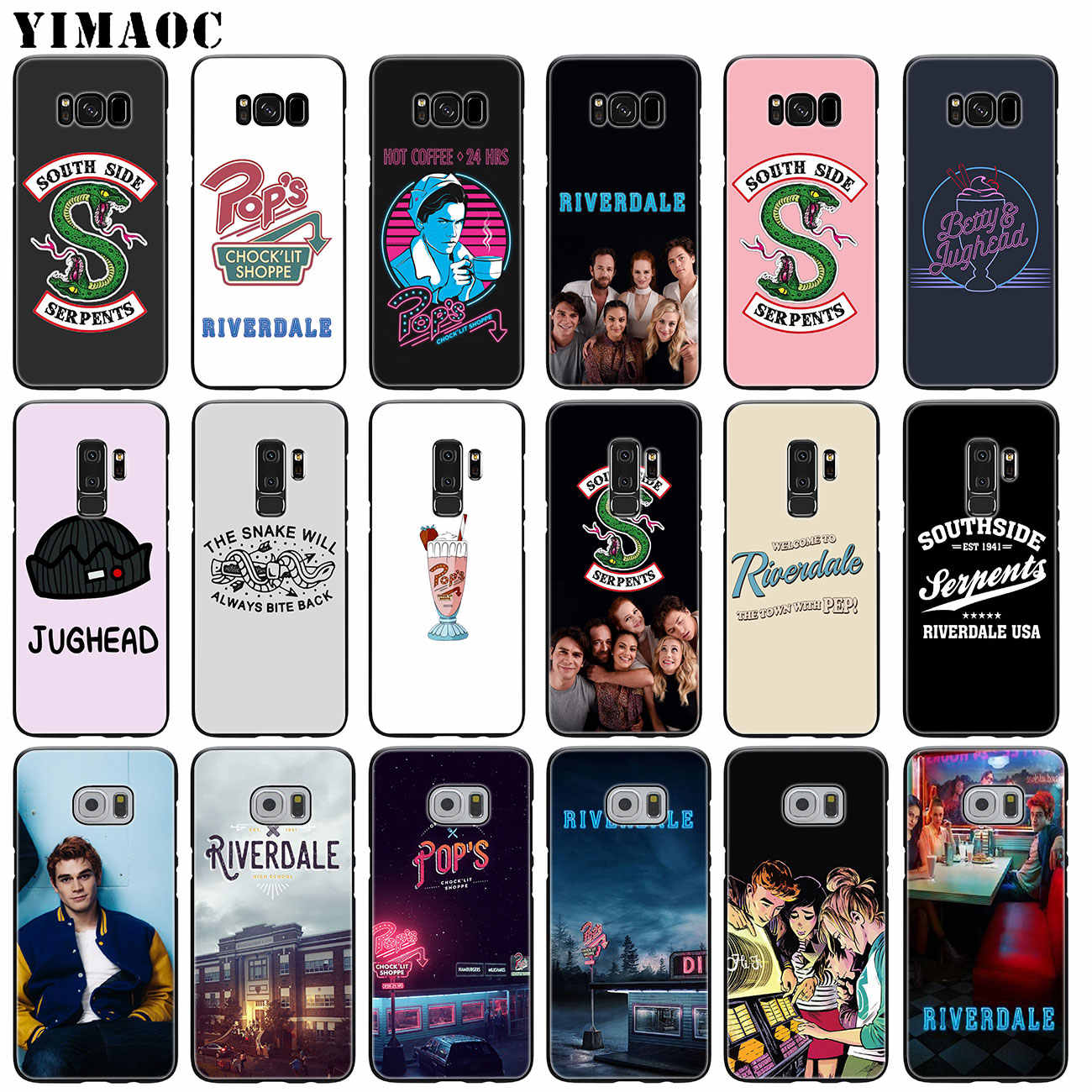 YIMAOC Riverdale South Side Serpents Soft Silicone Phone Case for Samsung Galaxy S10 Plus S9 S8 Plus S6 S7 Edge S10e Black Cover