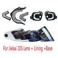 JIEKAI 105 vidrio del parabrisas de la motocicleta jiekai casco jiekai 105 visera del casco + Forro + Base