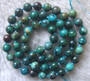 Image 2 - 6mm 7mm 10mm Natürliche Chrysokoll Runde Lose Perlen 15,5 Inch