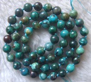 Image 2 - 6mm 7mm 10mm Natural Chrysocolla Round Loose Beads 15.5Inch