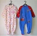 Ребенок флис ткань одна часть пижамы derlook ползунки весна и осенью небольшой мужской женский ребенок ребенка ползунки плюс размер