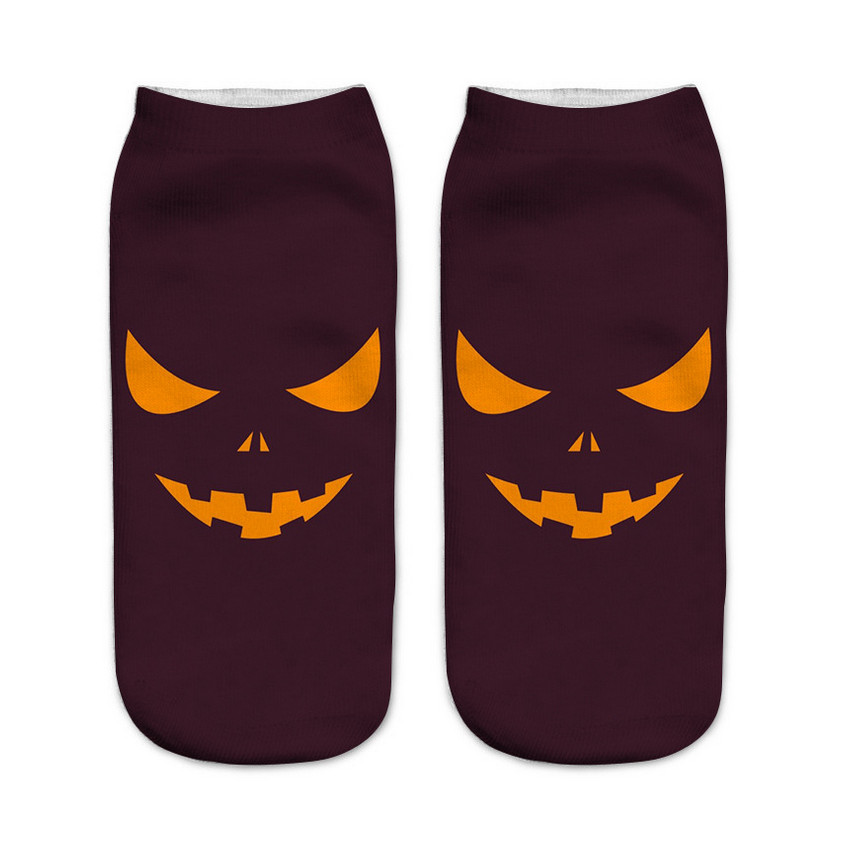 2018 New Arrival Hallowmas Kids Ankle Funny Socks 3d Print Halloween  Pumpkin Creator Free Witch Cool Polyester Novelty Socks