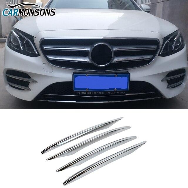 Carmonsons Fog Light Lamp ABS Chrome Trim Cover Stickers for Mercedes Benz E Class W213 E200 E260 E300 Accessories Car Styling
