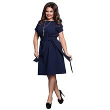 Plus Size Laides Summer Elegant Loose Dress