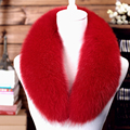 80cm long style fox fur collar for women 5 colors solid soft warm autumn winter female ladies scarf collares