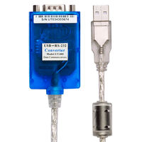 Free Shipping 1pcs Lot USB To RS232 Serial 9 Pin Serial Cable DB9 USB Industrial Grade