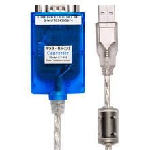 Câble série USB vers RS232, 1 pièce/lot, 9 broches, DB9, qualité industrielle, compatible avec windows 10, Mac Os, FTDI, puce Ft232