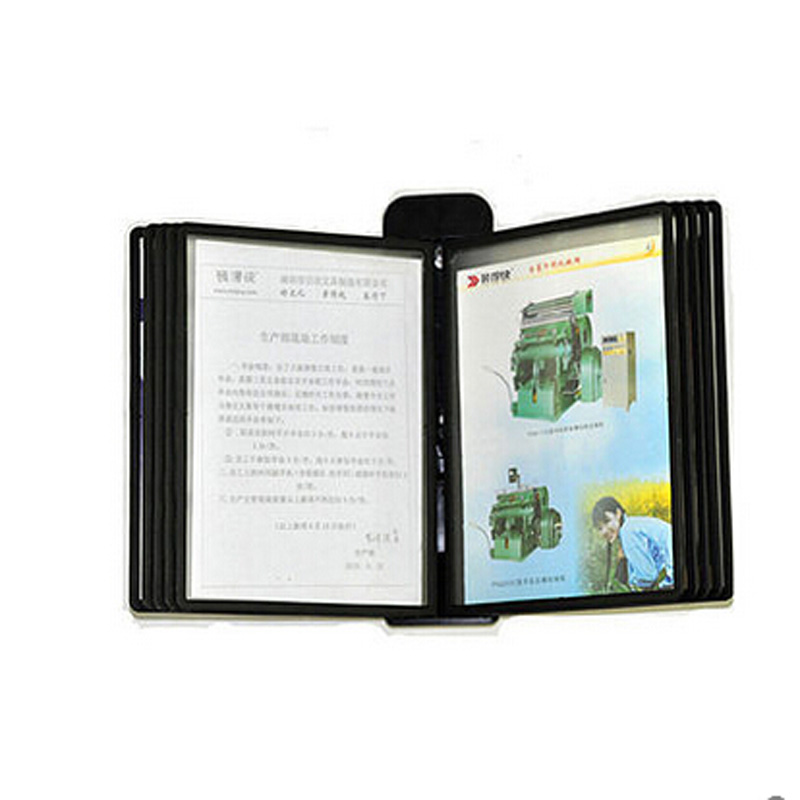 pageflip page file holder wall mounted display rack black sleeves pages document picture catalogue in flip chart from office  school also rh aliexpress