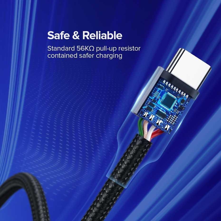 Ugreen USB Tipe C Kabel Pengisian Cepat untuk Samsung Galaxy S9 S8 Huawei P30 Pro Xiaomi 9 8 USB C kabel Charger Ponsel Pendek