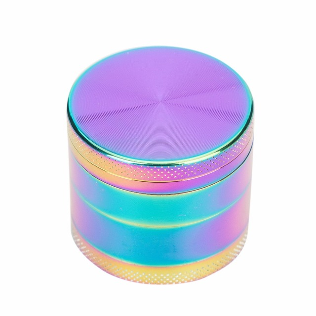 New Rainbowl Color 4 Piece Metal Zinc Alloy Herb Grinder 40MM Smoking Tobacco Crusher Mini Muller Hookah Chicha Narguile Grinder